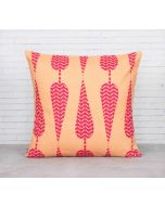 India Cirucs Conifer Spades fuchsia Pink Cotton Cushion Cover