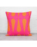 India Cirucs Conifer Spades Pink Cotton Cushion Cover