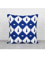 India Cirucs Conifer Symmetry Blue Cotton Cushion Cover