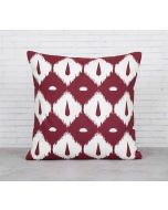 India Cirucs Conifer Symmetry Maroon Cotton Cushion Cover