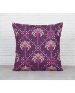 India Cirucs Poly Palmeira Sepia Cotton Cushion Cover