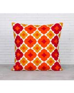 India Cirucs Summer Tracery Ginger Cotton Cushion Cover