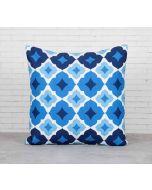 India Cirucs Ultramarine Tracery Sapphire Cotton Cushion Cover
