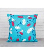 India Cirucs Yield of Divinity Blue Cotton Cushion Cover