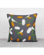 India Cirucs Yield of Divinity Grey Cotton Cushion Cover