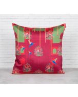 India Circus Passerines Palatial Paradise Blended Taf Silk Cushion Cover
