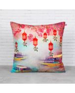 Scarlet Shadows Blended Velvet Cushion Cover