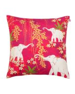 Scarlet Tusk Poly Velvet Cushion Cover
