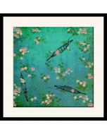 Boats and Flowers Framed Wall Art