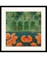 Leaves and Lanterns Framed Wall Art
