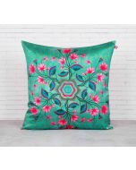 India Circus The Lotus Chronometer Blended Taf Silk Cushion Cover