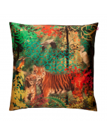 Tiger Shadow Poly Taf-Silk Cushion Cover