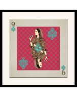 Mughal Queen Playing card Framed Wall Art