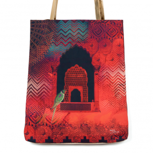 Parrot and Palace Jhola Bag