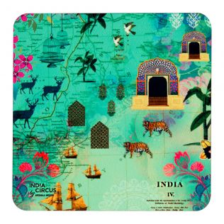 Desi Wonderland MDF Coaster - (Set of 6)