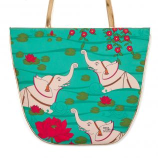 Elephant Bath Oval Jhola Bag