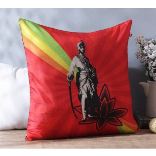 Your majesty Poly Silk Cushion Cover