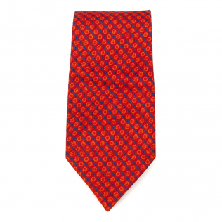 Bright Red Yellow Tie