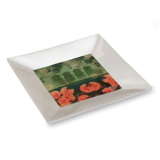 Leaves and Lanterns Serving Platter