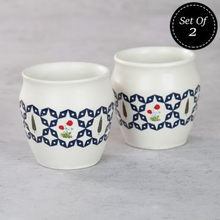 Flowers and Ferns Kullad (Set of 2)