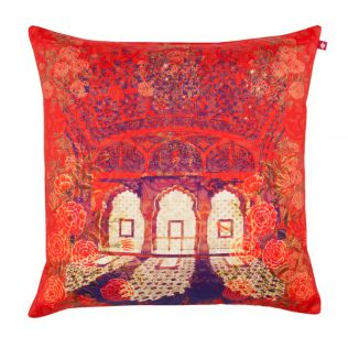 Floral Avenues Poly Taf Silk Cushion Cover