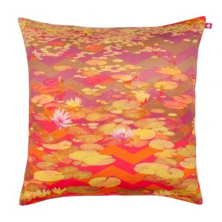 Lotus River Poly Taf Silk Cushion Cover