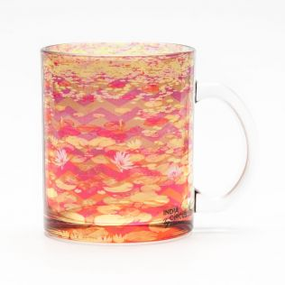 Lotus River Glass Mug