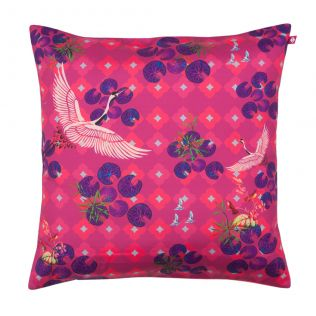 Red Paradise Poly Taf Silk Cushion Cover