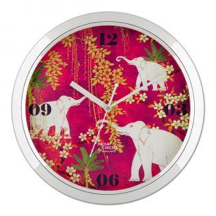 Scarlet Tusk Wall Clock