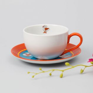Tangy Applique Cup and Saucer