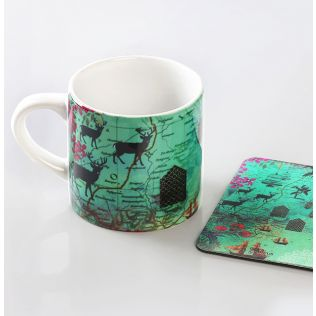 Desi  Wonderland Espresso Small Mug (1 Ceramic Mug + 1 PVC Coaster)