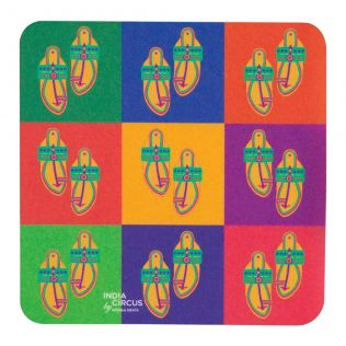 Toe tal Funk PVC Coaster - (Set of 6)
