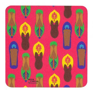 Technicolor Jootis PVC Coaster - (Set of 6)
