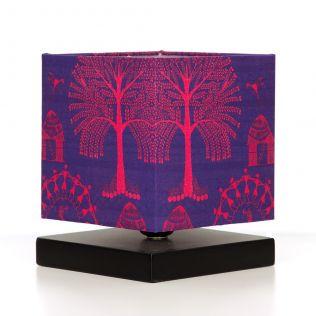 Warli Village Square Table Lamp