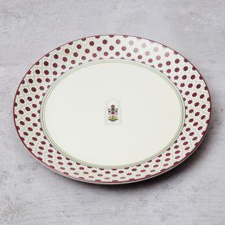 Floral Lattice Dinner Plate
