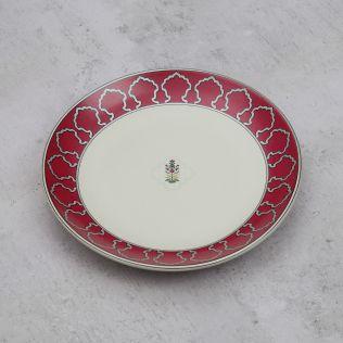Floral Lattice Quarter Plate