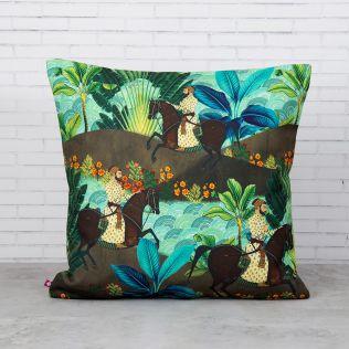 Tropical Exotica Canvas Blend Cushion Cover