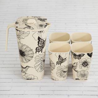 Monochromatic Bamboo Jug set