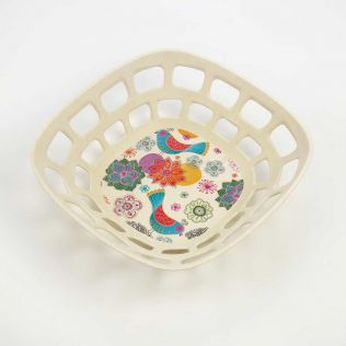 Garden of Eden Small Bamboo Fruit Bowl