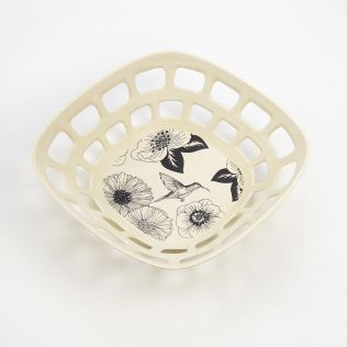 Monochromatic Bamboo Fruit Bowl