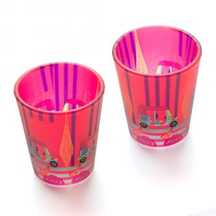 Three Wheeled Coupe Frosted Shot Glasses (Set of 2)