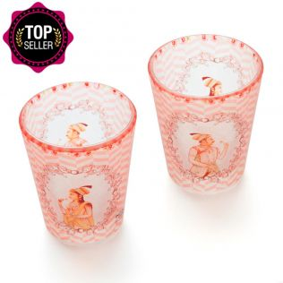 Mughal Corridors Frosted Shot Glasses (Set of 2)