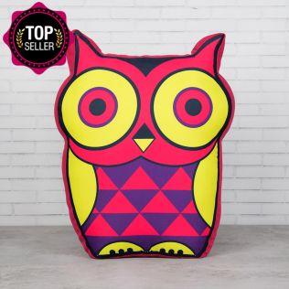 Peeking Owls Shaped Cushion