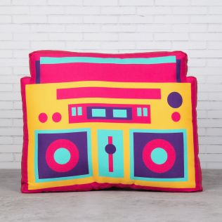 Radio Mundial Shaped Cushion