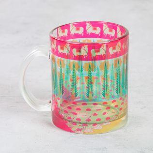 Nelumbo Nucifera Glass Mug