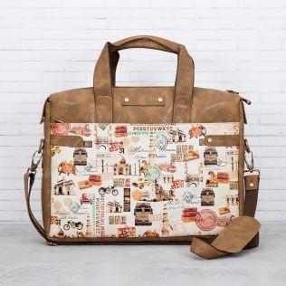 Haute News Briefcase Bag