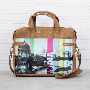 Strokes of India Briefcase Bag