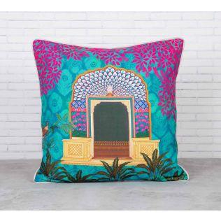 Phasianidae Monastery Satin Blend Cushion Cover