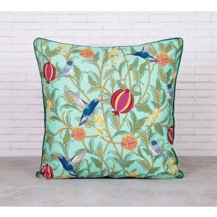 Flights of Vivers Satin Blend Cushion Cover