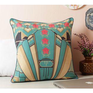 Geometric Chimera Satin Blend Cushion Cover